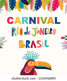 Brazil Carnival template. Vector illustration