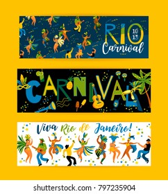 Brazil carnival. Vector templates for carnival concept and other users