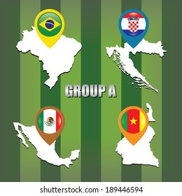 Brazil cup, group A. Team map