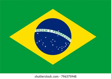 Brazil Flag country. Illustrator vector