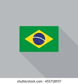 Brazil flag flat design vector illustration