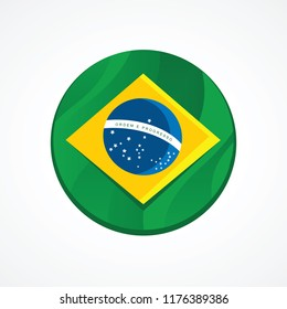 Brazil flag inside a ball