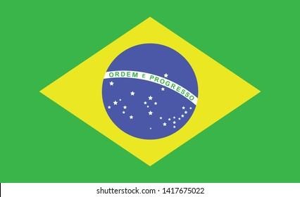 brazil flag. Simple vector brazilian flag