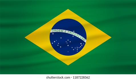 brazil flag vector (bandeira do brasil)