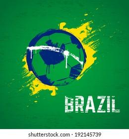 Brazil football background. Vector.