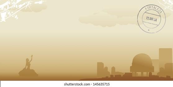 brazil fortaleza abstract skyline