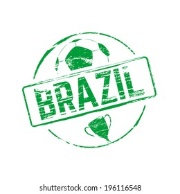 Brazil grunge rubber stamp, vector illustration