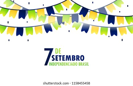 Brazil Independence Day Background. Banner poster header concept designs.