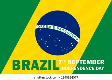 Brazil Independence day banner vector illustration
