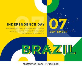 Brazil Independence day banner vector illustration