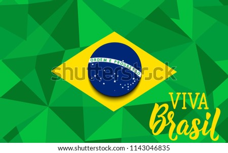 Brazil independence day greeting card text stock vector royalty brazil independence day greeting card text in portuguese viva brazil graphic design to m4hsunfo