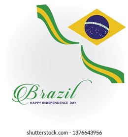 brazil independence day logo vector