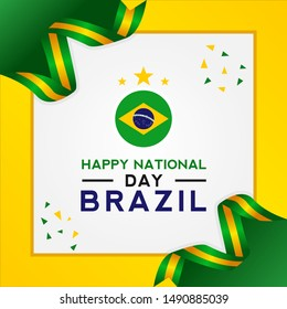 Brazil Independence Day Vector Design Template
