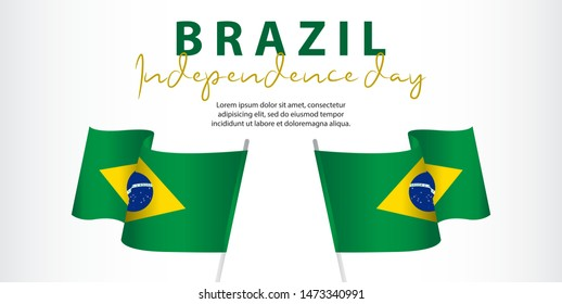 Brazil independence day vector template. Design for banner; greeting cards or print. welcome to India