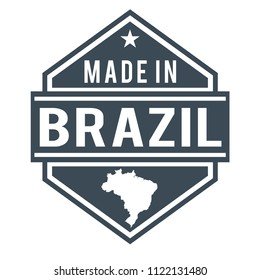 Brazil Made in Product Quality Original Stamp Design Vector Art
