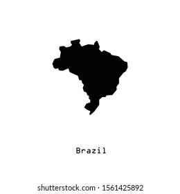 Brazil map icon in trendy flat style isolated on white background. Symbol for your web site design, logo, app, UI. Vector illustration, EPS