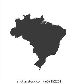 Brazil map vector. / Brazil map.