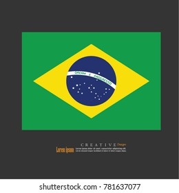 Brazil national flag background texture.vector illustration.