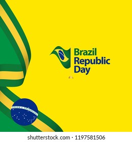 Brazil Republic Day Vector Template Design Illustration