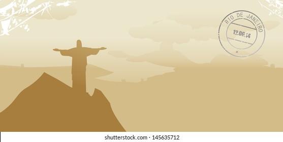 brazil rio de janeiro abstract skyline