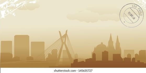 brazil sao paulo abstract skyline