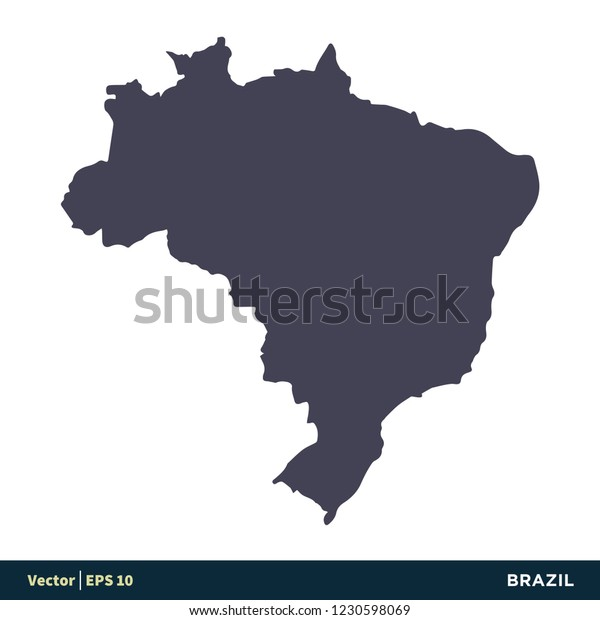 Brazil South America Countries Map Icon Stock Vector ...