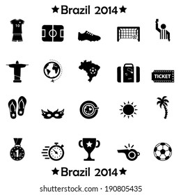 Brazil symbols icons and football icons