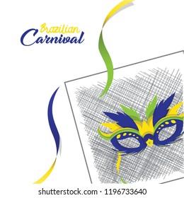 Brazilian Canival 2018 Vector Illustration Background Eps.10