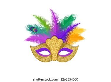 Brazilian Carnival, music festival, masquerade flyer template