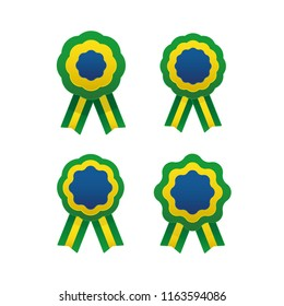 Brazilian cockade with flag colors, Brazil national independence symbol