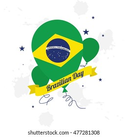 Brazilian Day Logo Design Template. Vector Illustration. flat style design