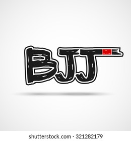 Brazilian Jiu Jitsu logo, badge , sticker. Template for gym, cover or your art works