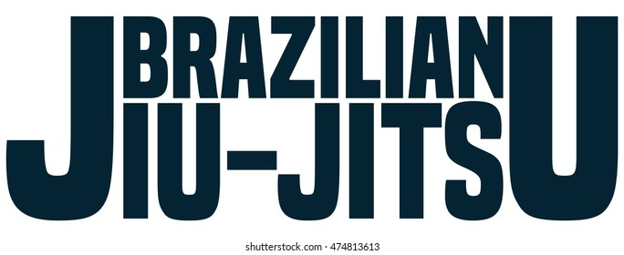 Brazilian Jiu Jitsu Sign, Vector Illustration.