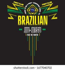 Brazilian Jiu Jitsu.Design template Vector Illustration.
