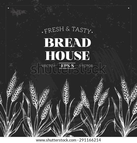 Bread Chalkboard Design Template Vector Illustration