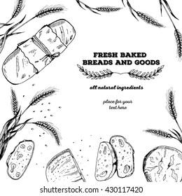 Bread design template. Vector illustration