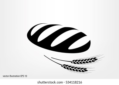 Bread icon vector illustration.