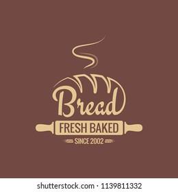 Bread logo for bakery vector background