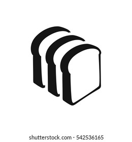 bread slices icon illustration isolated vector sign symbol