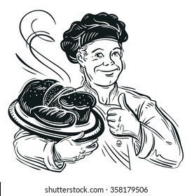 bread. vector illustration