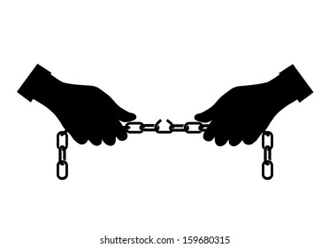 break the chain of hands