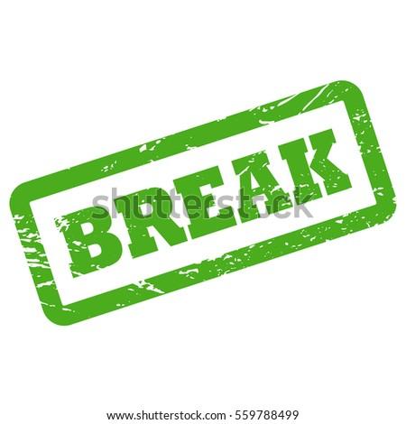 Break Inscription Rectangle Frame Green Rubber Stock Vector (Royalty ...