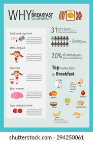 Breakfast info graphics illustration, vector - Shutterstock ID 294250061