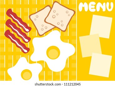 breakfast menu card
