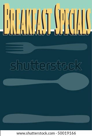 breakfast specials menu template stock vector royalty free