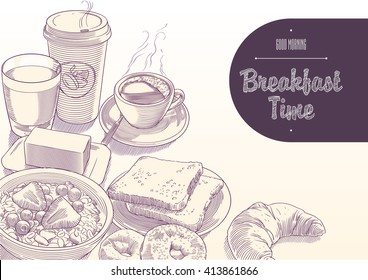 Breakfast Time illustration with morning mood 3