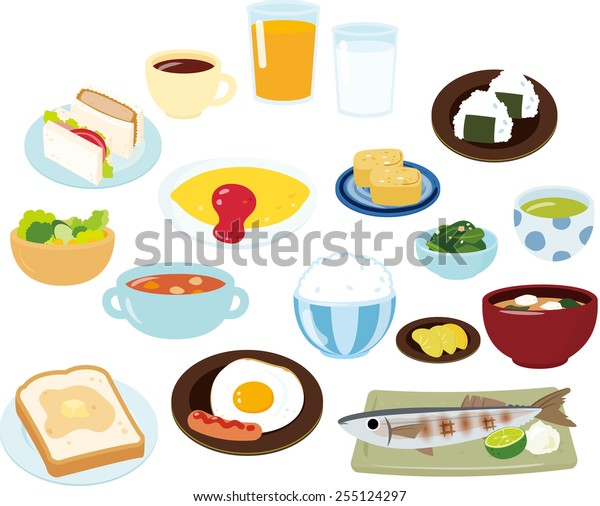 breakfast,Japanese style and Western style