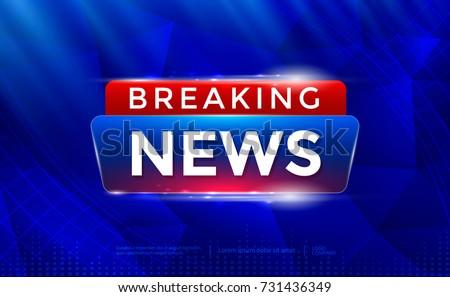 Breaking News Background Tv Channel News Stock Vektorgrafik