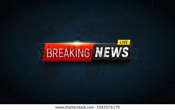 Breaking news background. Vector template for your design.