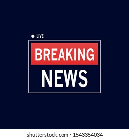 Breaking news banner. Hot news announcement for the television info shows. Vector background